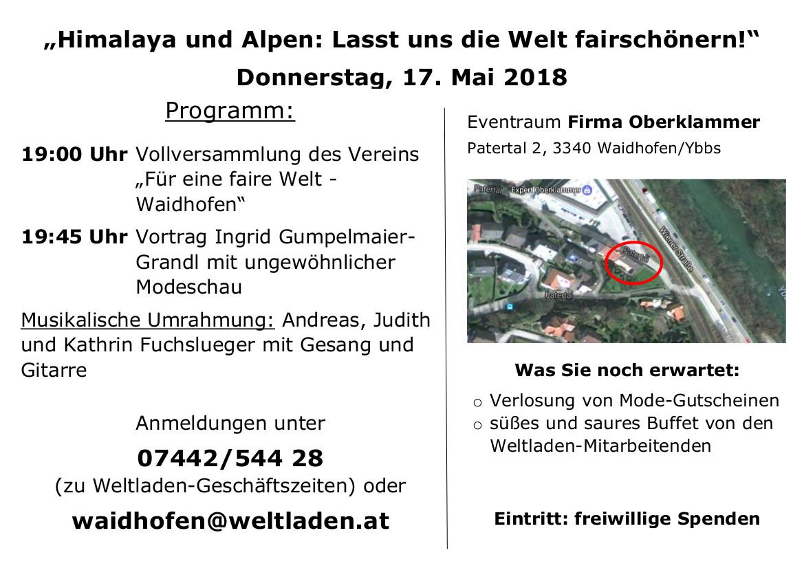 5. Waidhofner Weltabend Flyer vorne