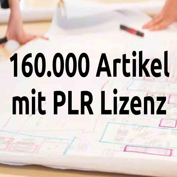 160.000 Artikel mit PLR Lizenz